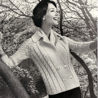 Long double breasted cable cardigan knitting pattern No 732-16