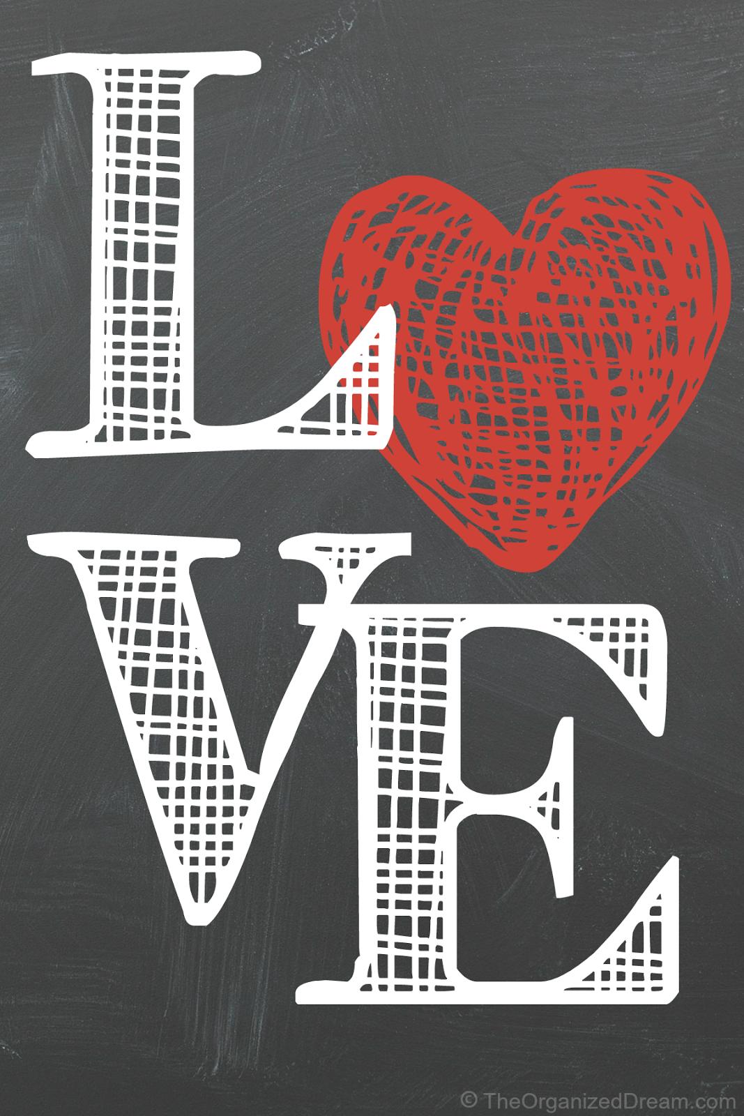 Free Valentine's Day Printables - The Organized Dream Free Printable Valentine's Day Decorations