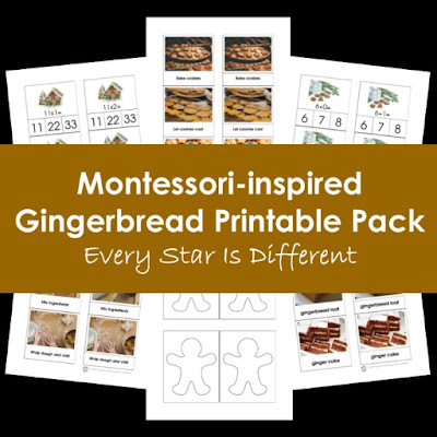 Montessori-inspired Gingerbread Printable Pack