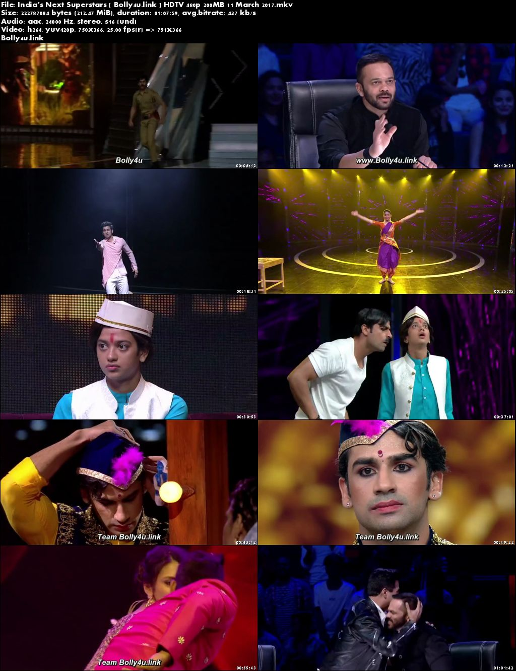 Indias Next Superstars HDTV 480p 200MB 17 March 2017 Download