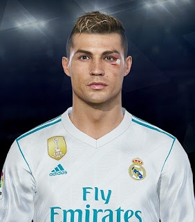 PES 2018 Real Madrid Facepack by LR7 ( CR7 with Scar )