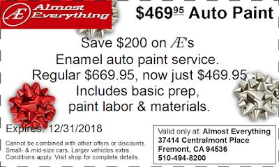 Coupon $469.95 Auto Paint Sale December 2018