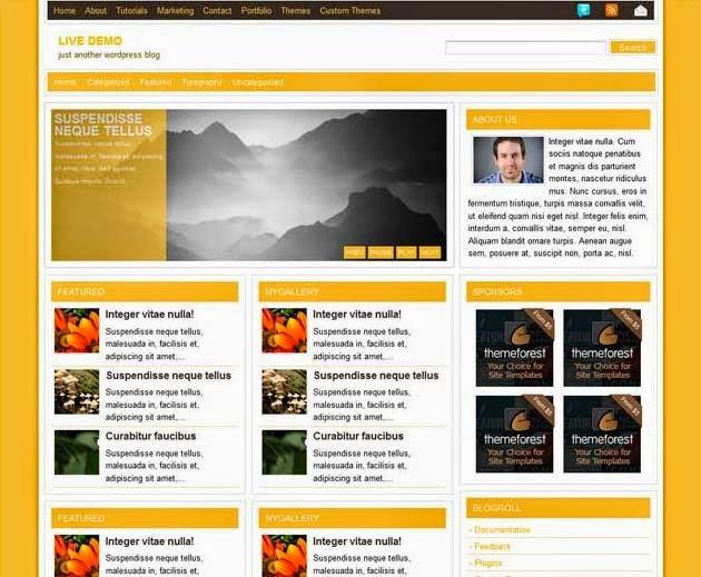 Yellow Mag free Clean, Magazine WordPress Theme