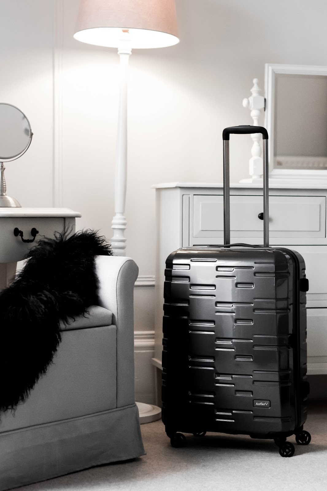 Antler Grey Prism Embossed Suitcase Travel