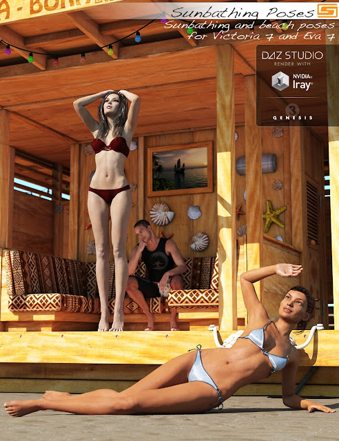 Sunbathing - Poses for Victoria 7 and Eva 7