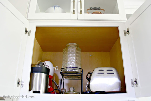 Tall cabinet over oven