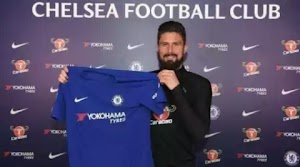 Photos: French striker Olivier Giroud Finally Signed into Chelsea from Arsenal for £18m