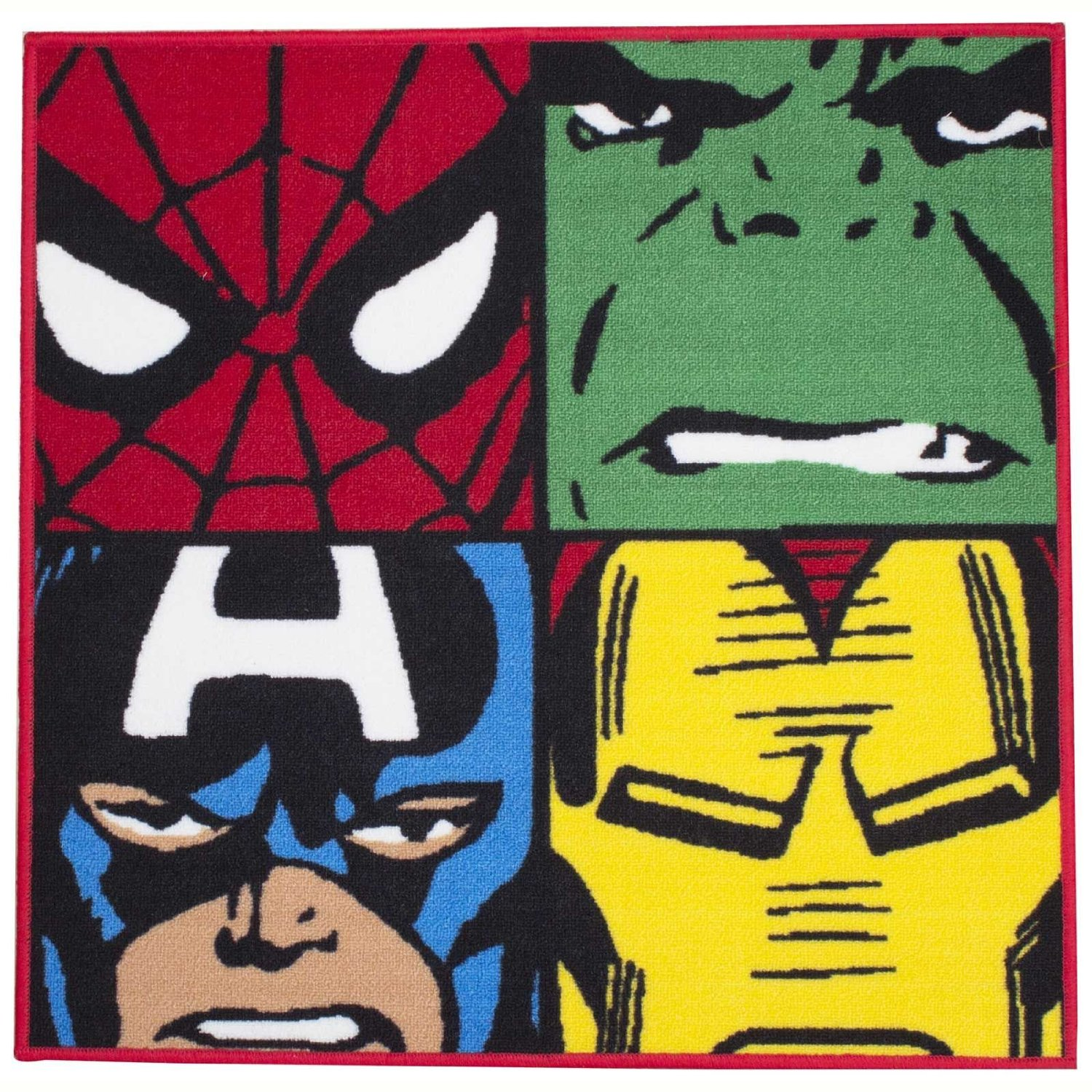 Superior Budget Accent Superhero Rug: Marvel Comics Defenders 80cm Square