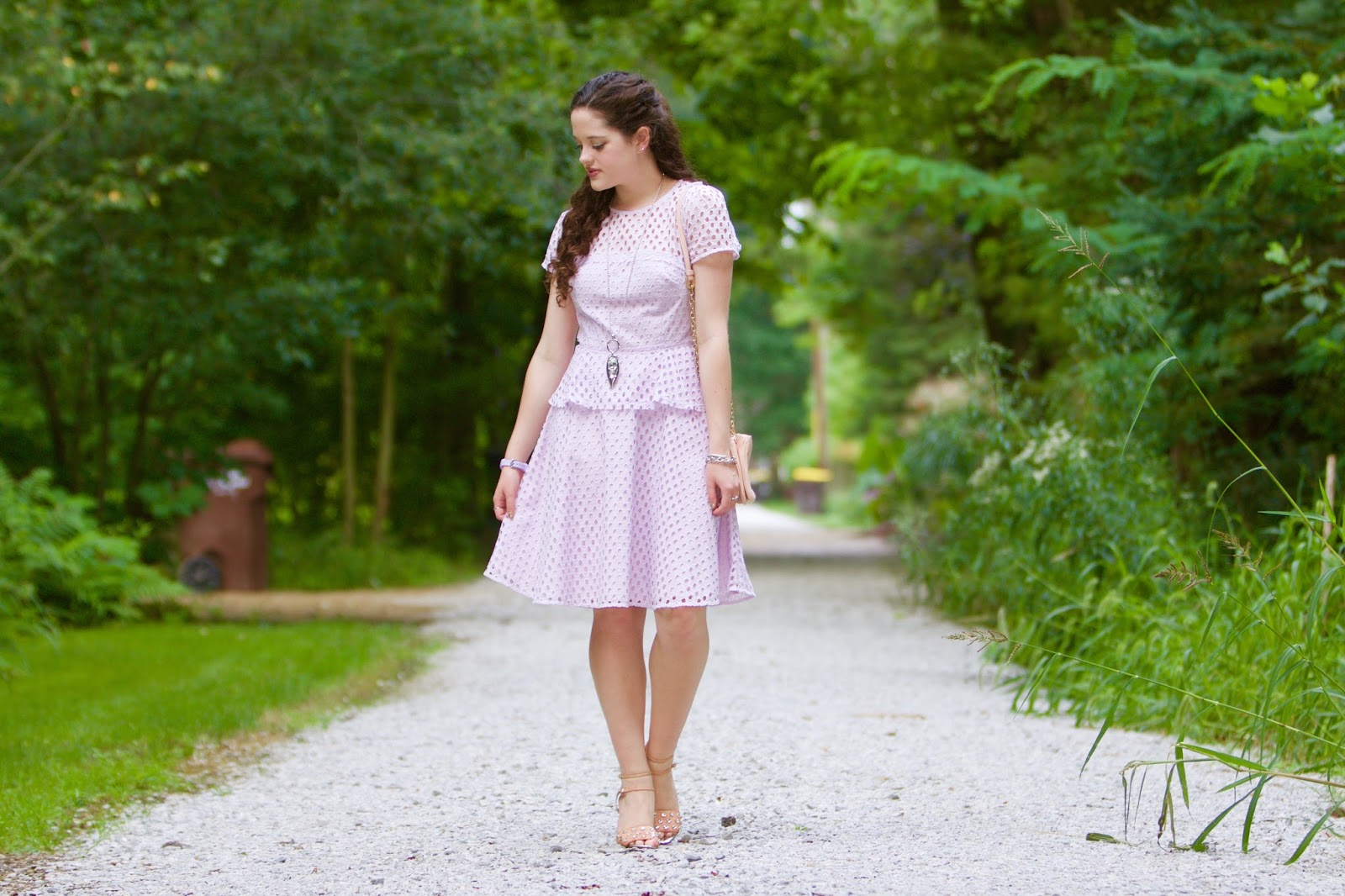 lavender eyelet dress