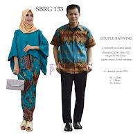 Batik Pasangan SBRG 133 Couple Gamis Kebaya Modern Tosca