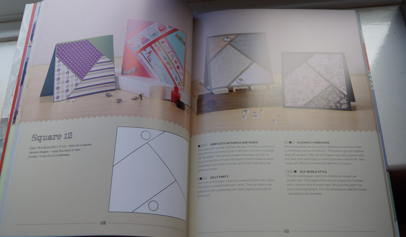Colour book edges - The Templates Are Divided Into Chapters By Card Shape Square Standard A6 Large A5 And Most Useful Of All For Me Dl I Love The Look Of Dl Cards