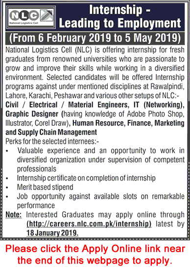 NLC Internships 2019