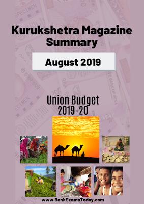 Kurukshetra Magazine Summary: August 2019