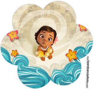 Moana Baby Flower Invitation.