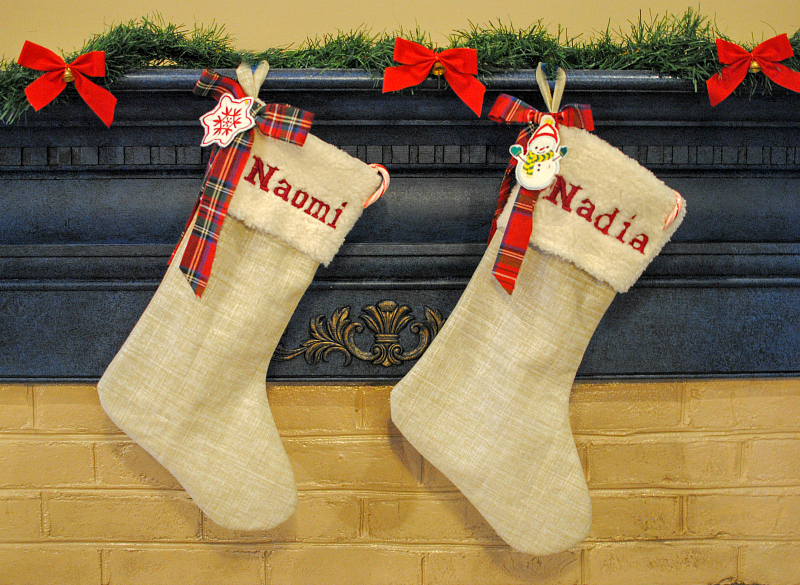 DIY Embroidered Stocking