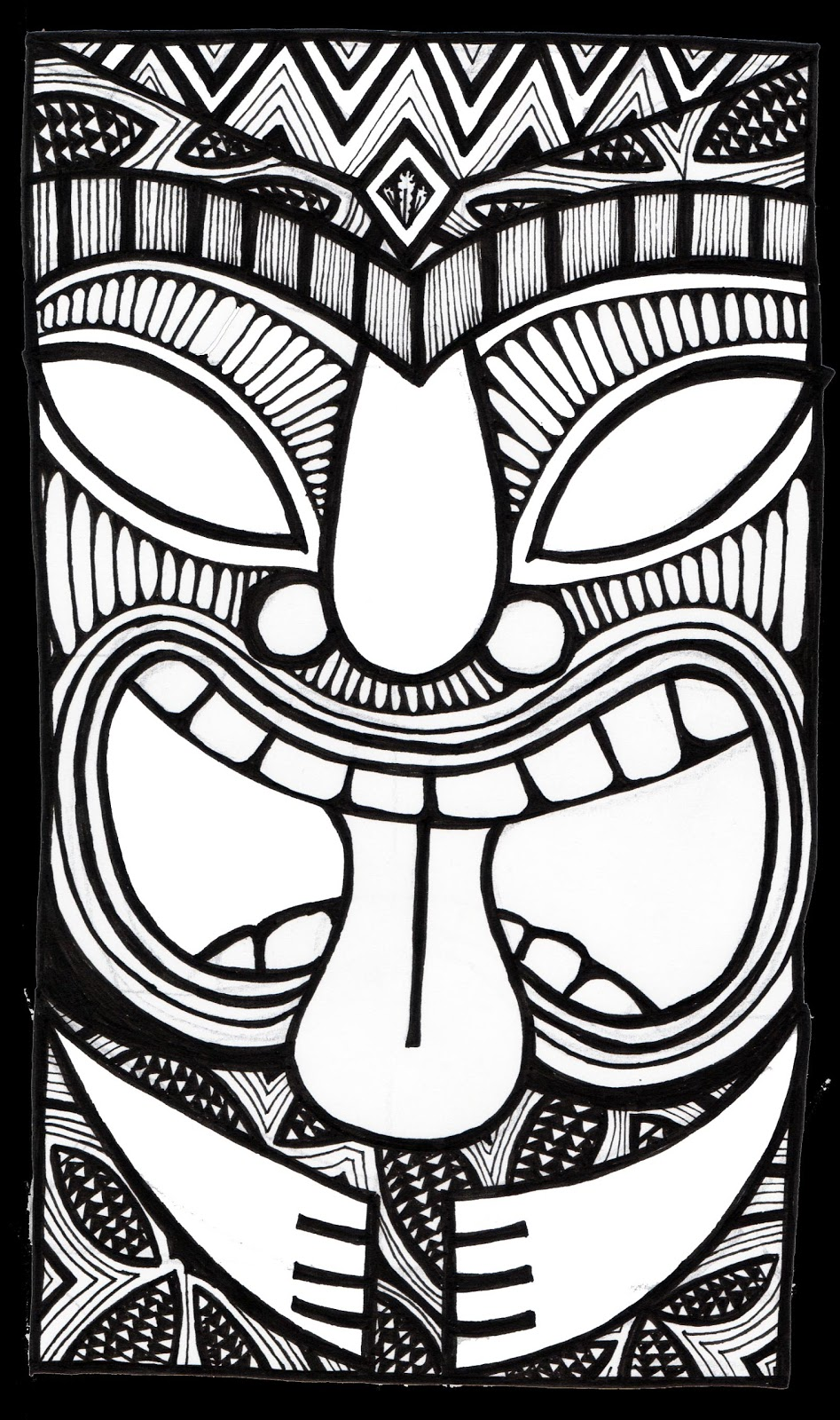 coloring pages tiki - photo #28