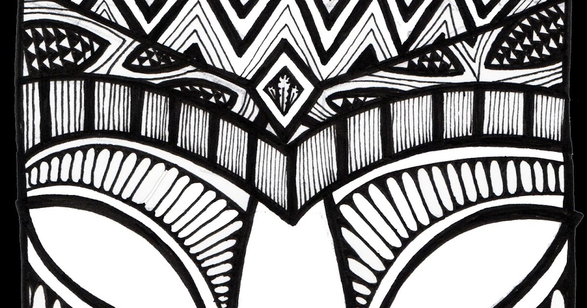 Stitchlily How To Draw A Tiki Head