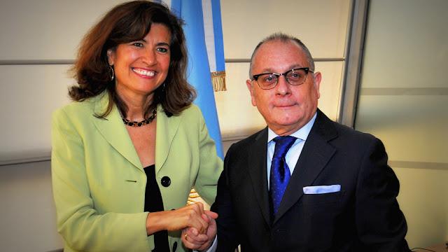 El Canciller Jorge Faurie se reunió con la directora de la OCDE Gabriela Ramos