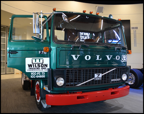1982 Volvo F7, the first Volvo truck built at Volvo's New River Valley assembly facility, will reside at the Volvo Trucks Customer center, adjacent to the plant
