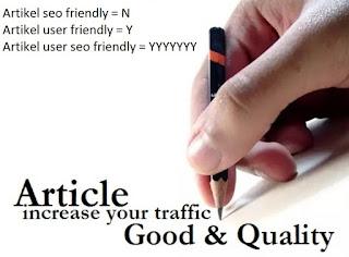 Blog anda ingin tetap banyak pengunjung? Jangan membuat artikel yang berkualitas SEO