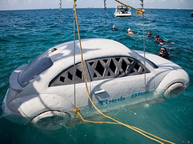 Cumple Vocho 5 años sumergido en el Mar de Cancún