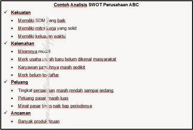 Contoh Analisis Swot Untuk Perusahaan Jasa Contoh Ii