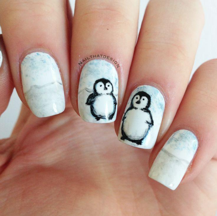 Penguin Nail Art Designs: Amazing Penguin Nail Art