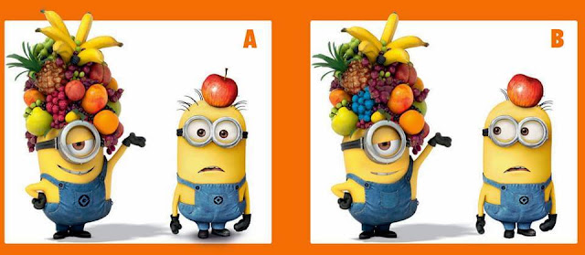 Picture Puzzle to spot the difference in give picture images