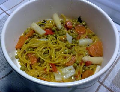 Fideua Vegetariana o Fideos con Verduras