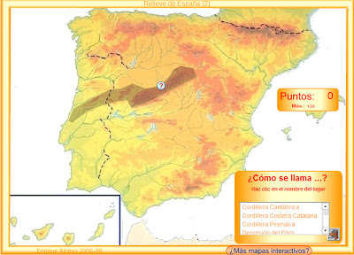 Kids Map Of Spain.For Primary Kids Social Science 3rd 4th Relief Map Of Spain
