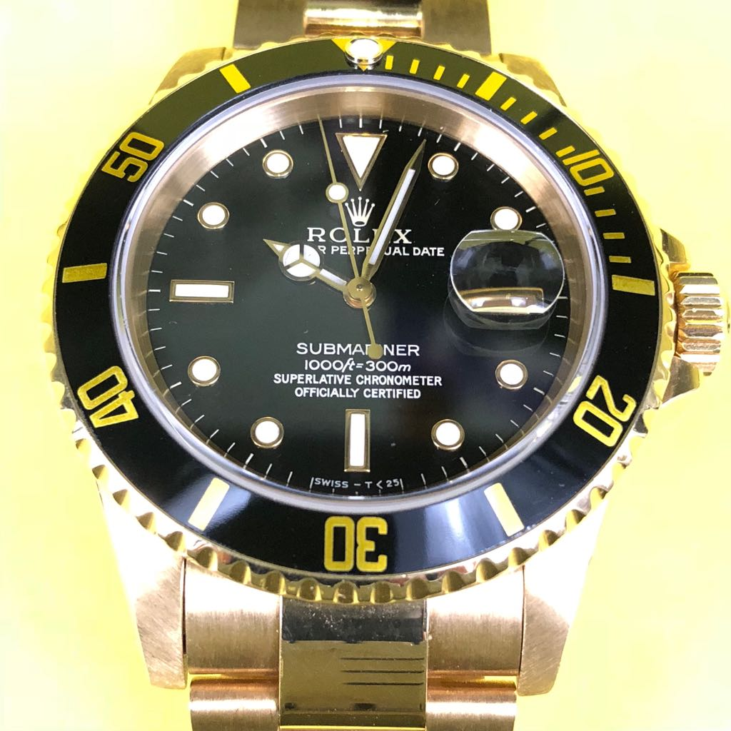 e0f74f2dd8c Hong Kong Watch Fever 香港勞友  Rolex Submariner 16618 with Onyx Dial