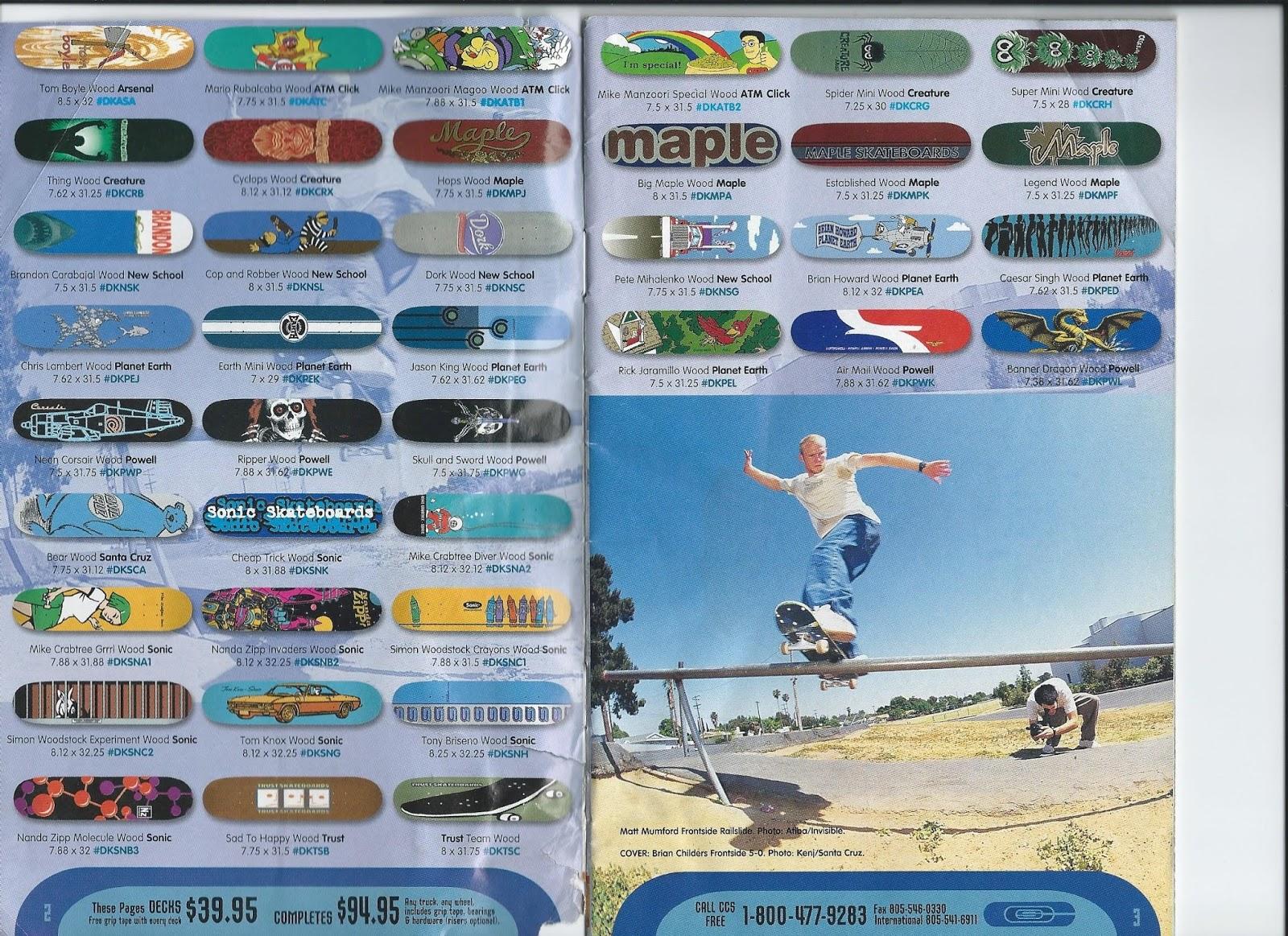 90's Skateboard Nostalgia: CCS Summer 1996 Catalog