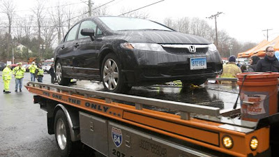 Car Adam Lanza used to commit mass murder at Sandy Hook Elementary School in Newtown, Connecticut