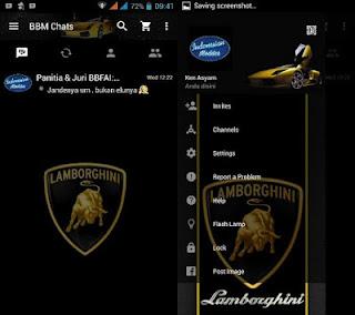 BBM MOD Lamborghini V3.0.0.18 APK terbaru 2016