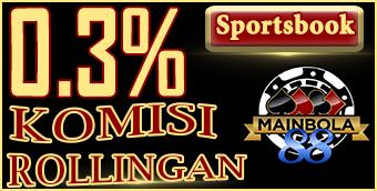 0.3% Commision Rollingan Sportsbooks