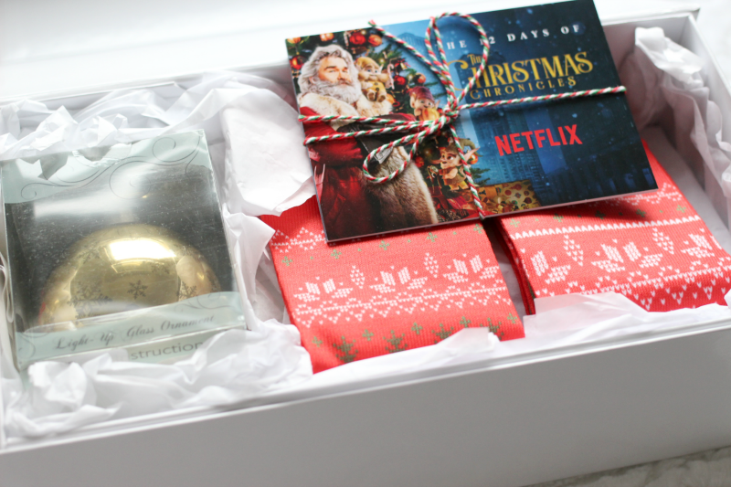 a Netflix gift on a white table