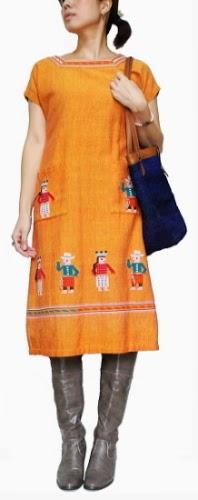 グアテマラ人模様織りワンピース