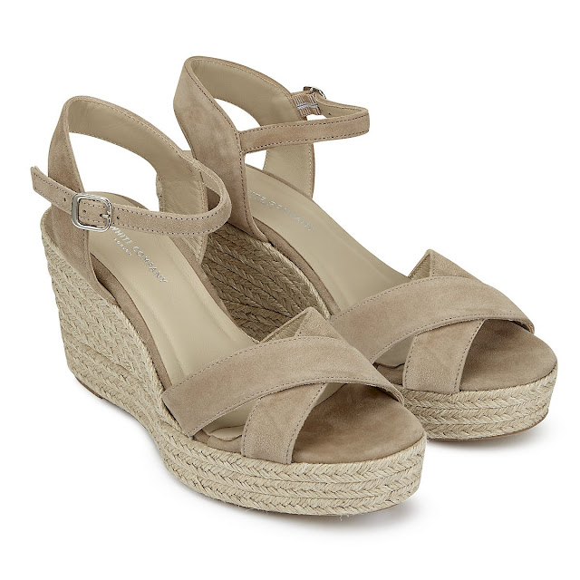 The White Company Cross front Espadrille Wedges