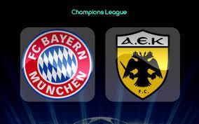 Bayern Munich vs AEK Athens: Fecha, Hora y Canal de TV EN VIVO por TV