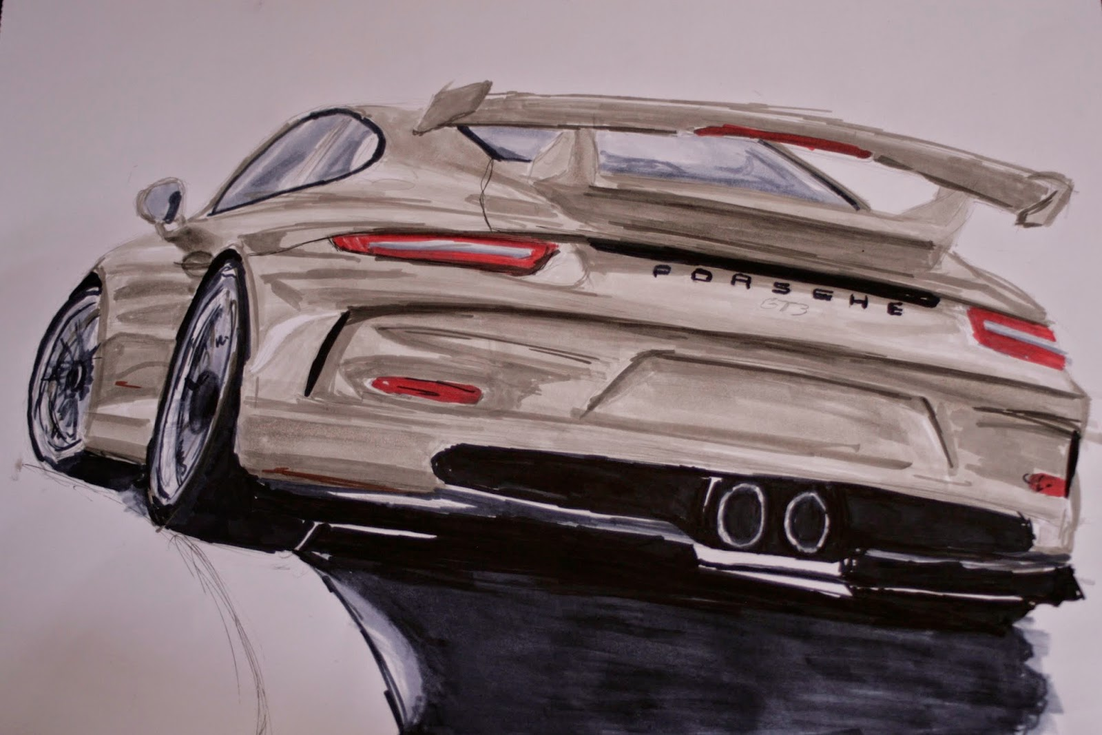Jasper S Car Design Drawing Blog Porsche 911 Gt3