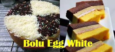 Bolu Putih telur (Sponge Egg White) Resep Dan Cara Membuatnya