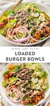 Burger Bowls (Whole30, Paleo, Low Carb)