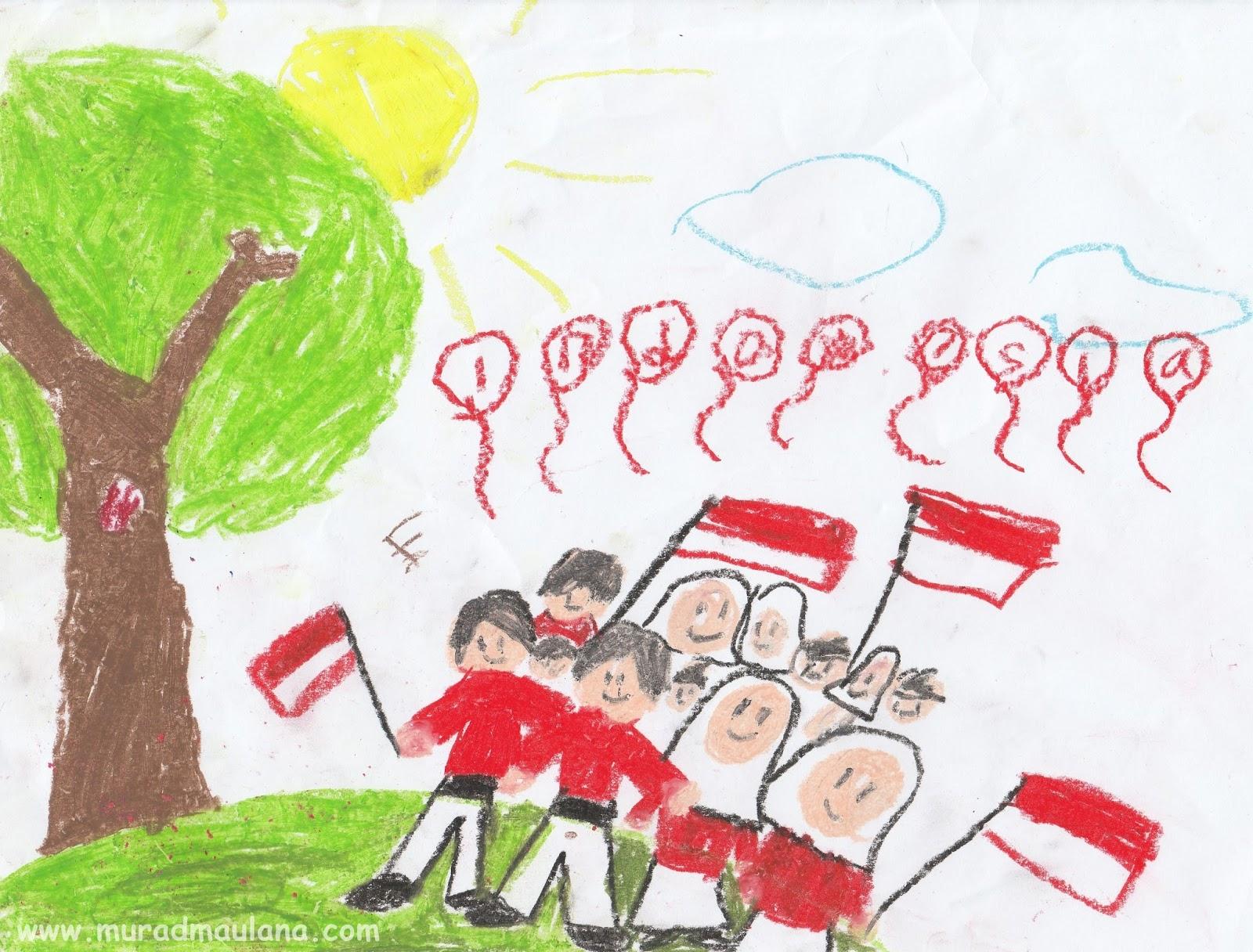 Gambar Karya Anaku Bagian 2 Hari Kemerdekaan Indonesia Ke