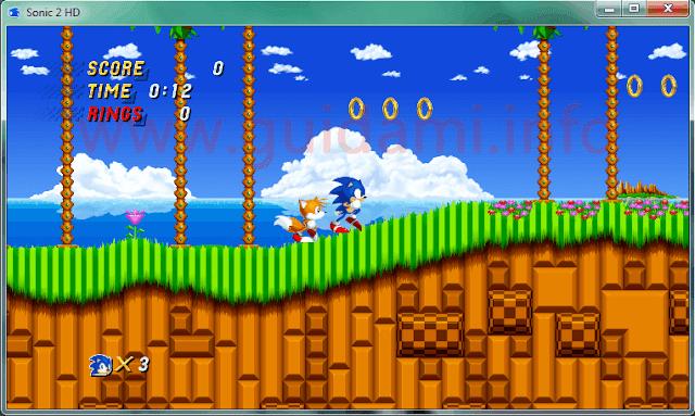 Sonic 2 HD finestra di gioco
