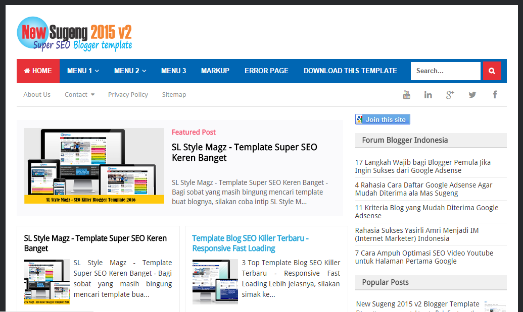 New Sugeng 2015 - SEO Killer, Simple, Fast and Responsive Template ...