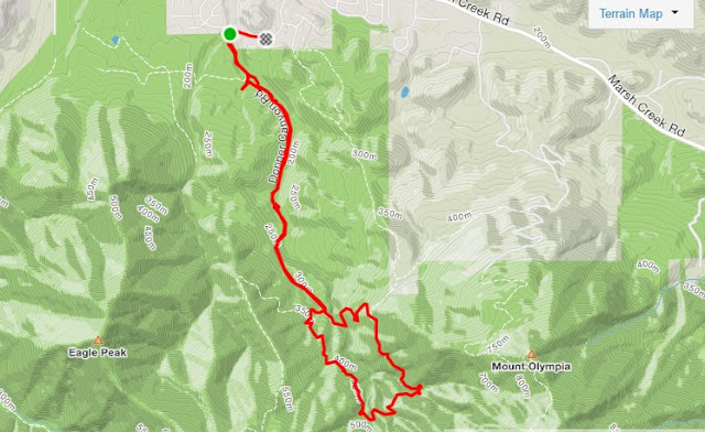 Mt. Diablo Falls Trail Loop route map