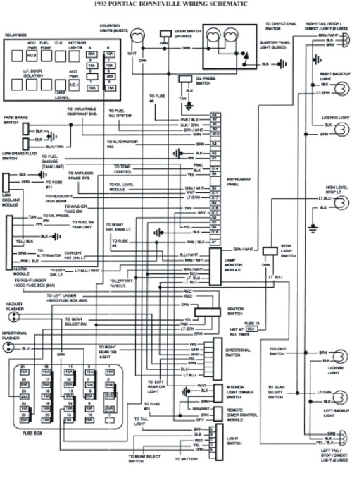 1993 Pontiac Bonneville Schematic Wiring Diagrams Images
