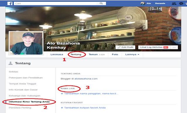 Cara Mengubah Nama Akun di Facebook