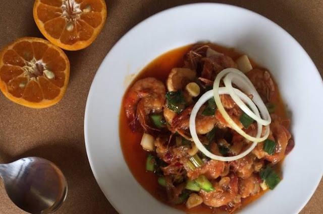 cara masak Udang Saus Tiram