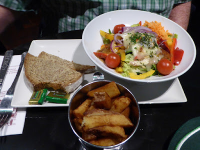 Paul's Vegetarian Meal at the Doheny & Nesbitt, Dublin, Ireland